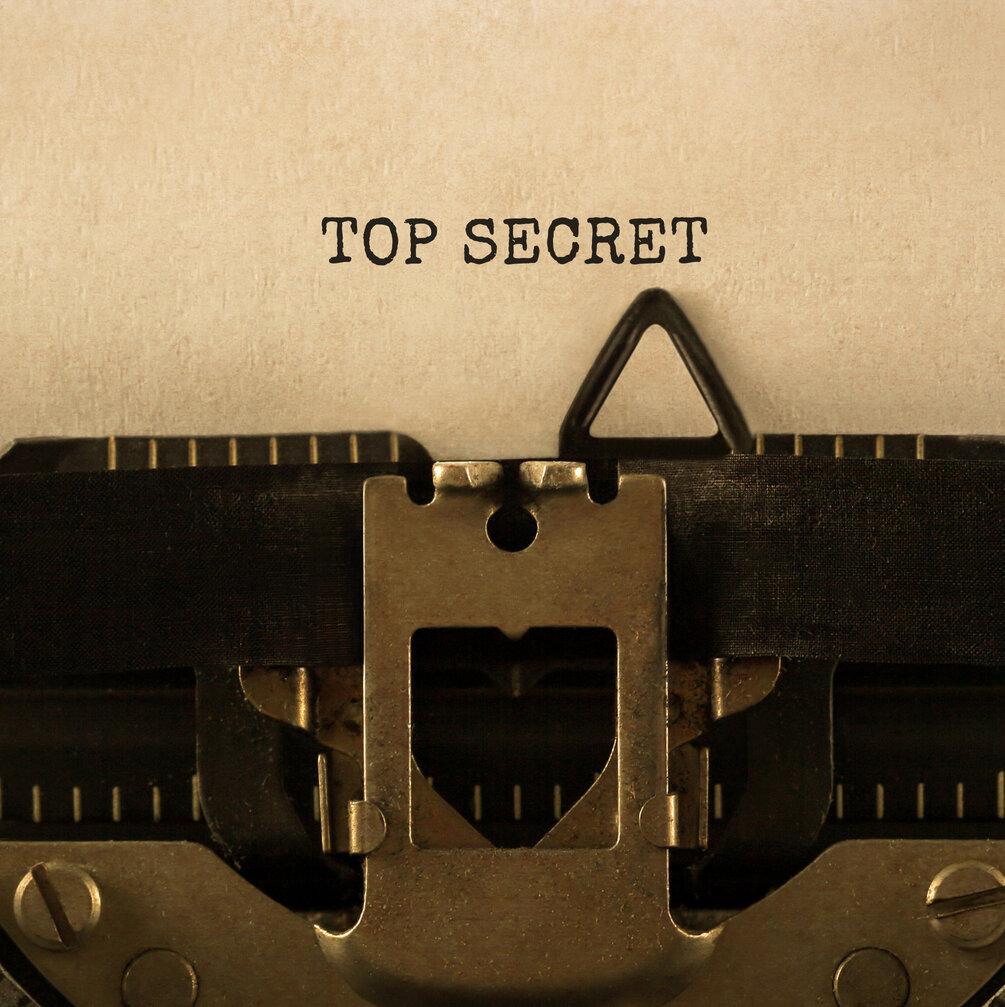 Top Secret on a Typewriter