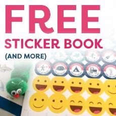 Free sticker book