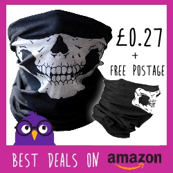 Skull Balaclava available on Amazon for 27p