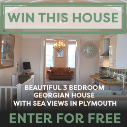 Win a beautiful 3 bedroom house in Plymouth