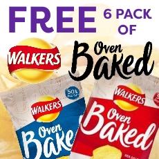 Free 6 Pack of Walkers crisps