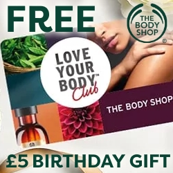 £5 Birthday Gift with Love Your Body Club by The Body Shop