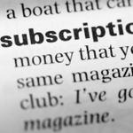 A dictionary definition of subscription