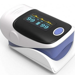 A fingertip pulse oximeter