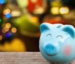 A Christmas piggy bank