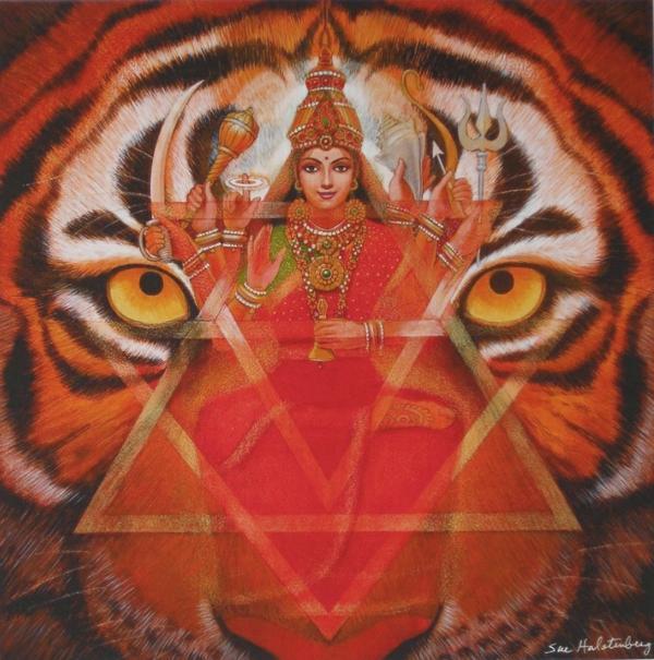 Durga Tiger Goddess Mandala