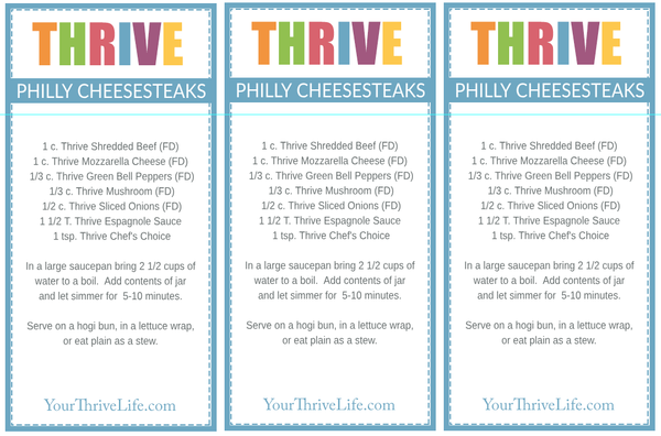 Philly Cheesesteak Labels
