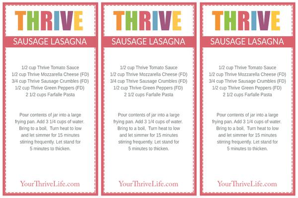Beef Veggie Skillet Labels
