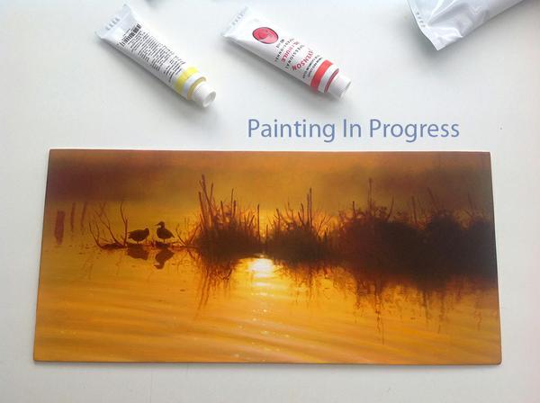 painting in progress - Derek C Wicks