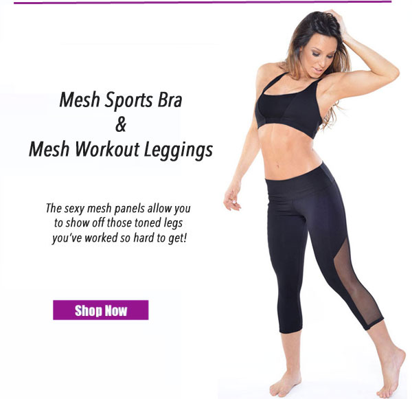 Affitnity Black Mesh Leggings