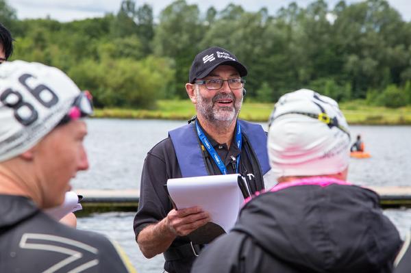 Open water swimming coaching