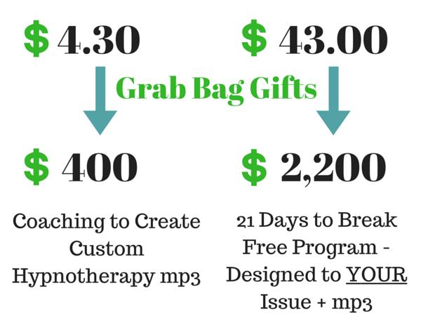Grab Bag Surprise Gift - $4.30 became $400 & $43 became $2,200!
