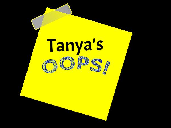 Tanya's Oops