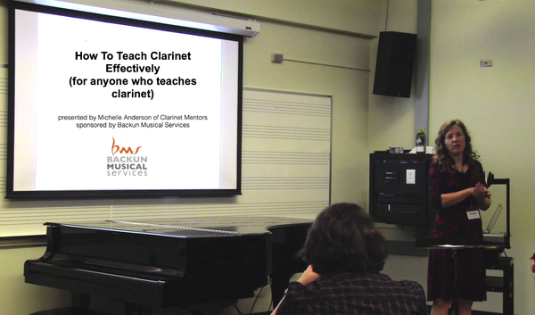 Link to recording of Michelle's lecture on How To Teach Clarinet More Effectively