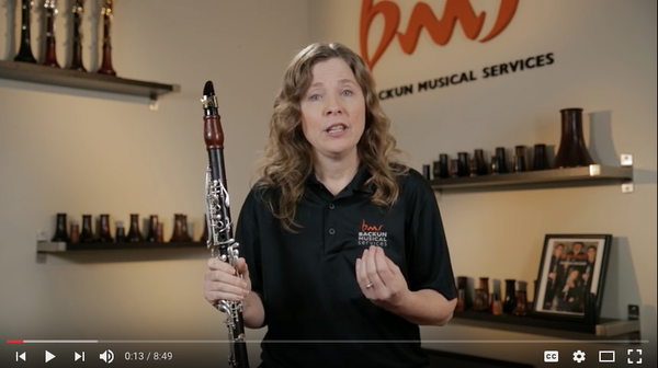 Link to a YouTube playlist of 14 educational clarinet videos