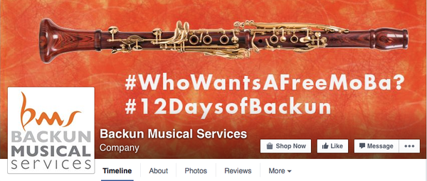 Photo and link to 12 Days of Backun