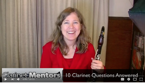 Link to a YouTube video with 10 clarinet questions answered