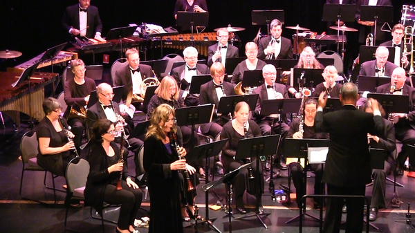 Image of Michelle with the Pacific Symphonic Wind Ensemble