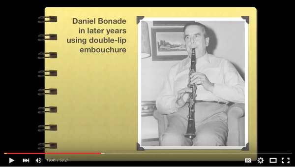 Link to YouTube video about Daniel Bonade
