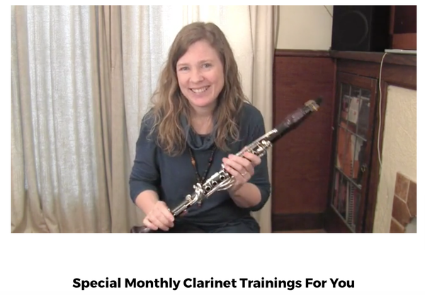 Link to your monthly clarinet trainings