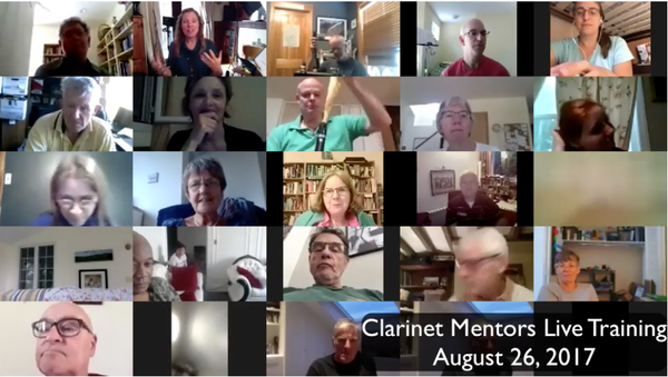link to Live Clarinet Training Replay