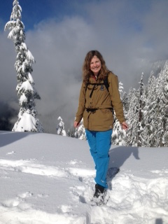 Michelle in the snow photo