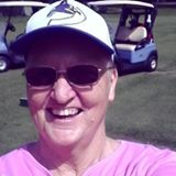 Sue at golf