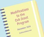Cub Scout Program Modifications