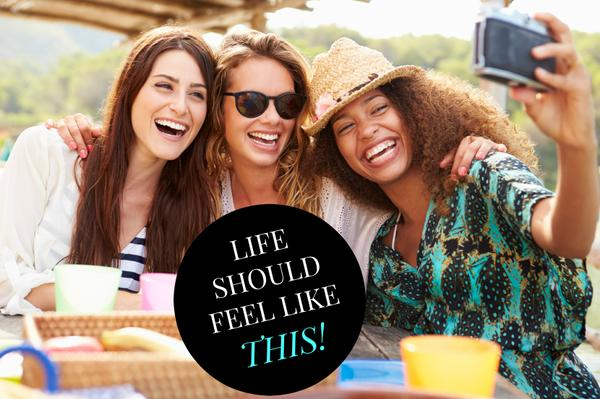 Life should feel like this! Happy women friends
