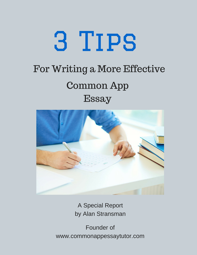 tips for writing an application essay