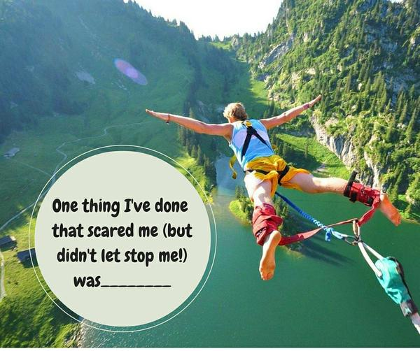 Bungee jumping over a canyon