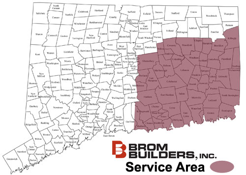BROM Builders, Inc. Service Area Map