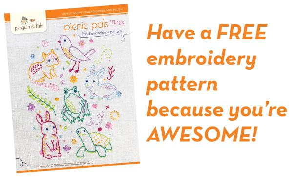 Penguin & Fish - lovely embroidery kits, craft kits, sewing patterns