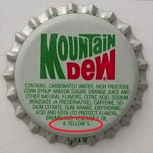 Mountain Dew with its Tartrazine may hurt your testicles