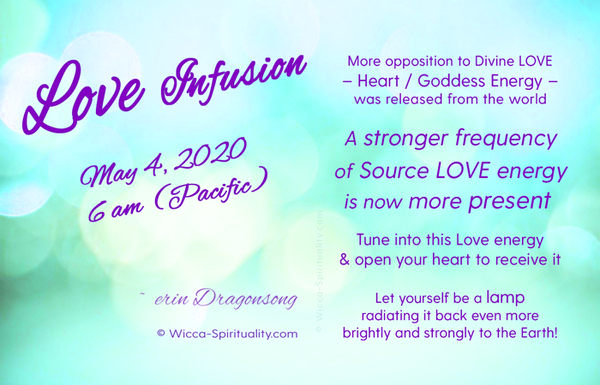 Love Infusion - May 4, 2020, 6am (PT)