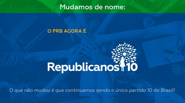 PRB agora é Republicanos e continuamos sendo o único partido 10