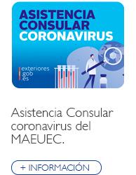 Asistencia Consular coronavirus (COVID-19)
