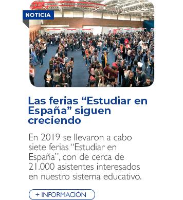 """Las ferias """"Estudiar en España"""" siguen creciendo"""