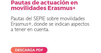 Pautas de actuación en movilidades Erasmus+