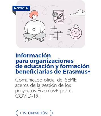 Información para organizaciones de educación y formación beneficiarias de Erasmus+