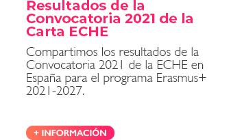 Resultados de la Convocatoria 2021 de la Carta ECHE