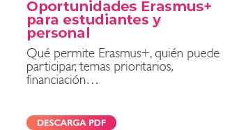 OPORTUNIDADES ERASMUS+ PARA ESTUDIANTES Y PERSONAL