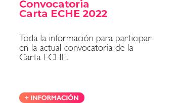 Convocatoria Carta ECHE 2022