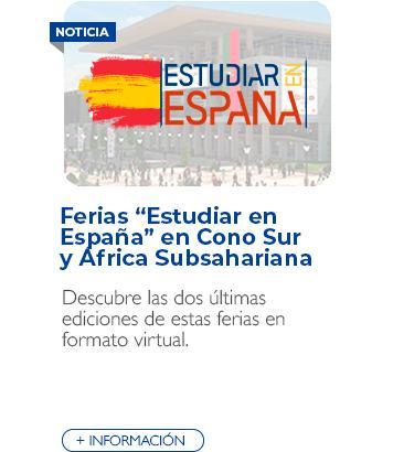 """Ferias """"Estudiar en España"""" en Cono Sur y África Subsahariana"""