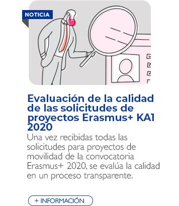 Evaluación de la calidad de las solicitudes de proyectos Erasmus+ KA1 2020