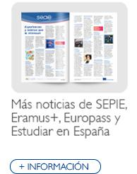 Más noticias de SEPIE, Erasmus+, Europass y Estudiar en España