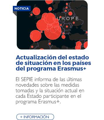 Actualización del estado de situación en los demás países del programa Erasmus+