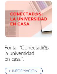 """Portal """"Conectad@s: la universidad en casa"""""""