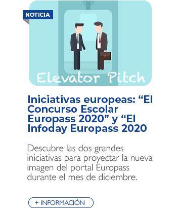 """""""El concurso escolar Europass 2020"""" y """"El evento Infoday Europass 2020"""""""
