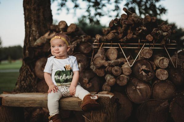 michaela fall green pumpkin outfit7.jpg